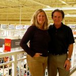 Tracy and Randy Robinson above the store that's been like a second home for 21 years