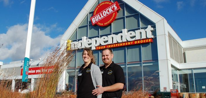 Alycia Simmons (left) and Darcy Bullock, the new franchise owners of Bullock's Your Independent Grocer