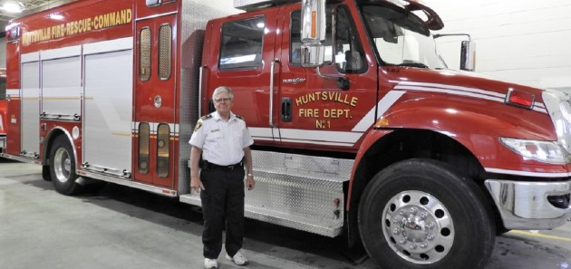 Mike Cook is retiring after 40 years of service as a volunteer firefighter