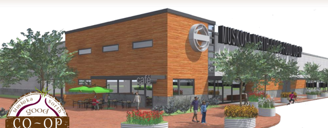 An artist's rendering of the vision for the Muskoka North Good Food Co-op