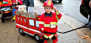William (right) and Emberson Billingsley would give the Huntsville Lake of Bays fire department some serious competition at the 2016 Tiny Tots Hallowe'en parade