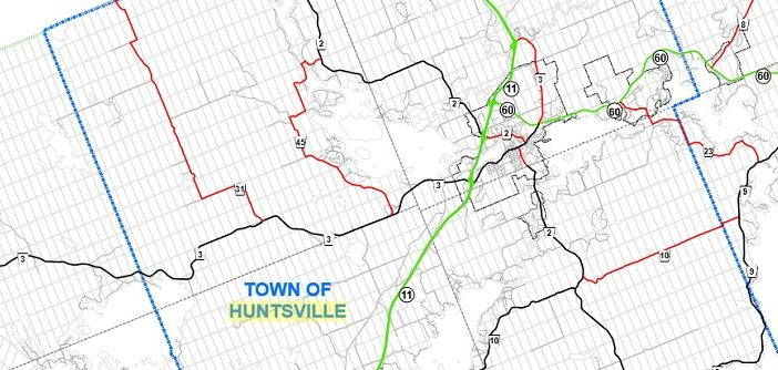Roads in red are those the District of Muskoka feels it could turn over to municipal control