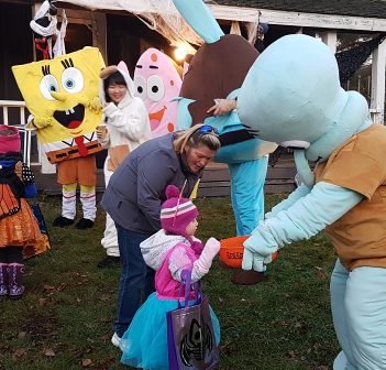 The Spence Inn stood in for the Pineapple Under the Sea as SpongeBob SquarePants and friends (a.k.a. Falls Law Group) welcomed trick-or-treaters
