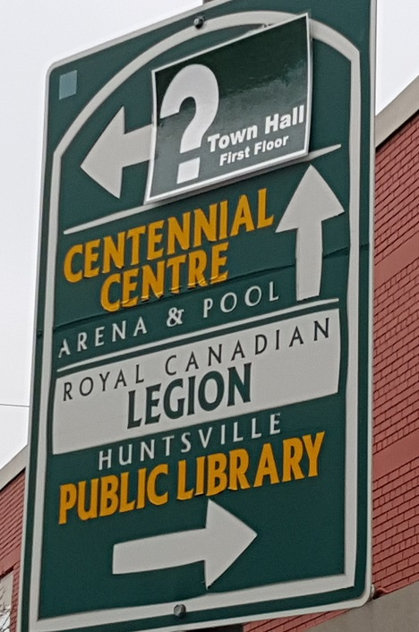 Huntsville has some dated wayfinding signage scattered around town