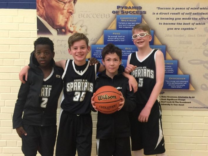 The 3-on-3 grade 5/6 boys winners hailed from North Bay
