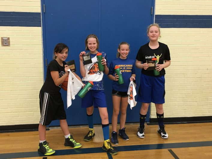 These grade 5/6 Huntsville girls won their 3-on-3 division