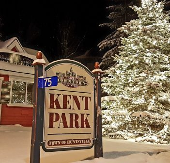 Tiny Kent Park was lit up with Christmas lights in 2017 (Doppler photo)