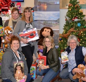 Township of Lake of Bays staff with some of the toys collected in their toy drive (Photo: @LakeofBaysTwp on Twitter)