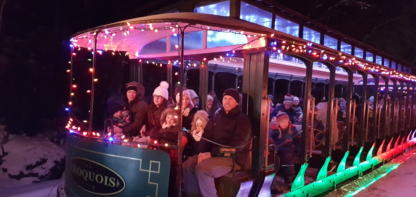 These happy people just visited Santa on the Portage Flyer