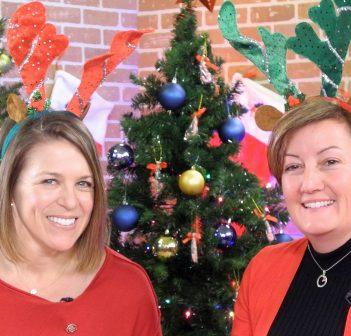 Rotary Christmas auction hosts Kim O'Grady (left) and Jennifer Simpson (supplied photo)