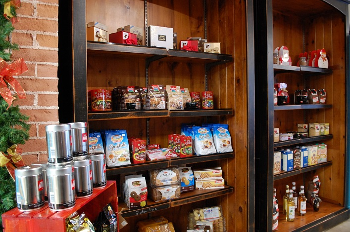 A varitey of Italian products and giftware is available at Affogato