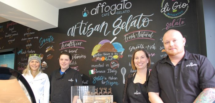 Stop in and meet the people behind Affogato: (from left) Sandra Pizzale, Gio Pizzale, Karen Oliver and Jonathan Clarke