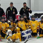 The Atom Sting Yellow were undefeated in the annual Huntsville Girls Hockey Association. Its the first gold medal for the young minor hockey league.