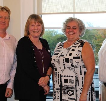 Huntsville's CCV Insurance team at a fall open house (from left) Andy Mattice, Kimberly Bates, Michele Hitchon and Deane Belfry. Missing: Korrie Alexander (Photo: Liz Rice)