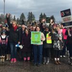 About 125 people participated in the 2018 Women's March Muskoka