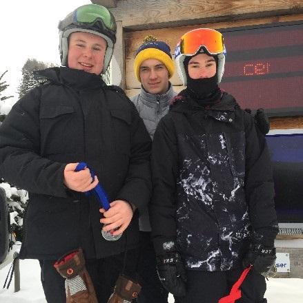 (From left) Chris Miller, Zach Belfry and Noah Jason
