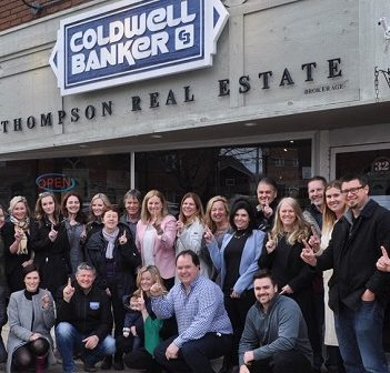 Realtors with Coldwell Banker Thompson celebrate being named tops among brokerages their size in North America (supplied photo)