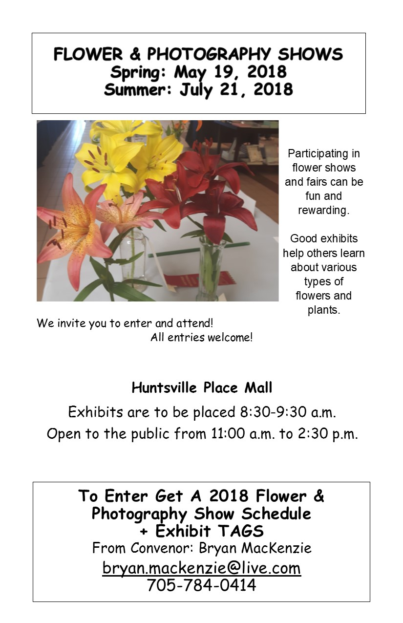 Huntsville Horticultural Society Spring Flower Photography Show