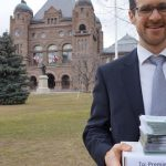 Green Party of Ontario candidate for Parry Sound-Muskoka, Matt Richter, delivers signed postcards to Queen's Park (submitted photo)
