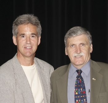Meeting Roméo Dallaire was one of the highlights of Rob Saunders' HFA career (supplied photo)