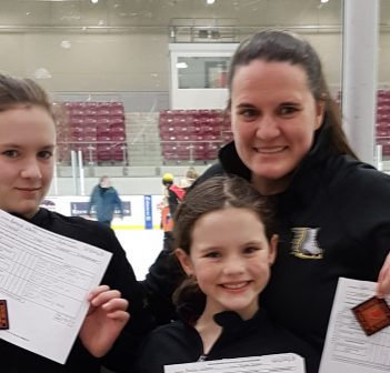 (From left) Ashleigh, Ainslie and Kerri Vallentin show off their Senior Bronze Skills awards (supplied photo)