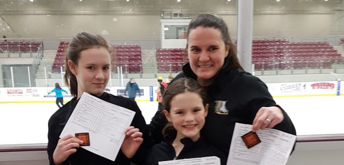 (From left) Ashleigh, Ainslie and Kerri Vallentin show off their Senior Bronze Skills awards (supplied photo)