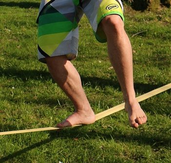 Slacklining is one of the new activities offered in the Town of Huntsville Spring and Summer 2018 Leisure Guide