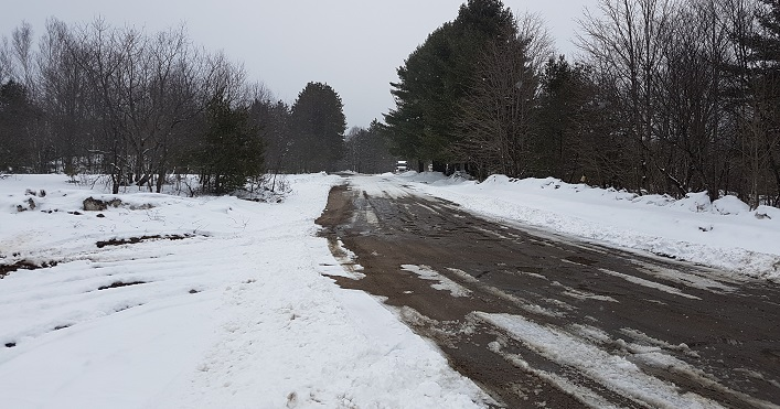 The proposed Lippa Pit and Quarry is on Butler Mill Road (above), off Aspdin Road (Muskoka Road 3)