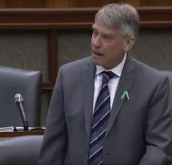 Parry Sound-Muskoka MPP Norm Miller in Question Period