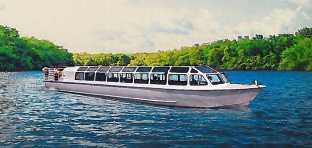 This style of tour boat could soon ply the waters on the Muskoka River and Huntsville's biggest lakes (Supplied image)