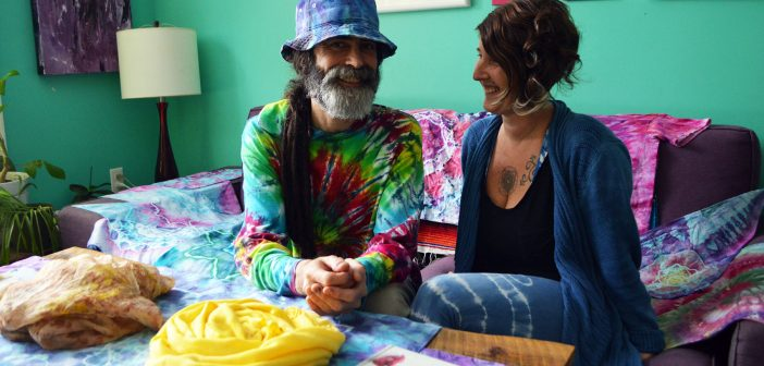 Jason Martin says colour can bring people together in a beautiful way. He's been making tie-dyed clothing the old-fashioned way for decades and now he's trying his hands at a new technique that's eco-friendly and totally appealing.