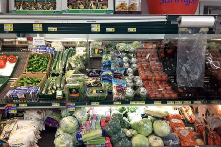 The entire vegetable section for 1500 to 2000 people in Attawapiskat