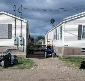 Typical housing in Attawapiskat First Nation