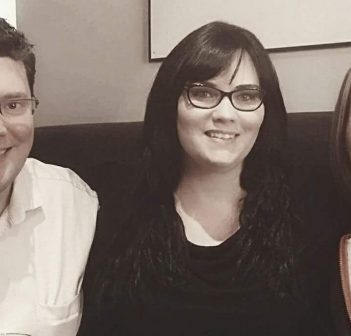 (From left) Matthew Phillips, surrogate Stacey Thornton, and Tammy Mercer