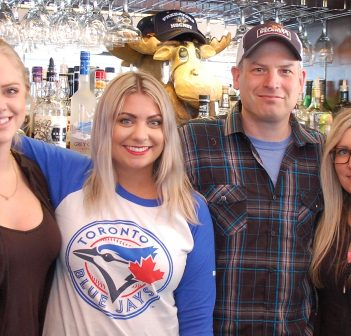 No straws here. Moose Delaney's staff (from left) Krystal McIntyre, Haily Fetterly, owner Dan Barkwell and Chantel Butterworth will only give you a straw if you ask for one.