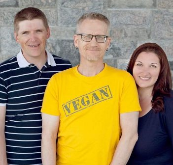 (From left) Muskoka VegFest organizers Leanna Zylstra-Bigwood, Matthew O'Donnell, Pete Vanderlugt, Randi Paradis, and Annmarie MacFadden (supplied photo)