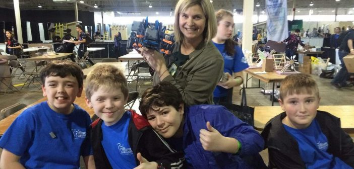 The Spruce Glen junior VEX IQ team at Skills Ontario (Photo courtesy of Una Pape)