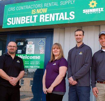 Sunbelt Rentals staff (from left) Phil Betts, Jason Petch, Amber Scott, Jason Taylor, and Josh Keating