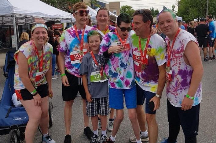 Cameron Edwards, third from right, was Band on the Run's top fundraiser (Photo: People for Inclusive Communities / Facebook)