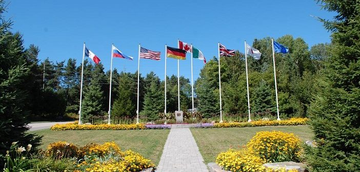 Flag Park commemorates the 36th G8 Summit which was hosted in Huntsville in 2010 (Doppler file photo)