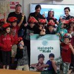 Helmets on Kids at VK Greer (Supplied photo)