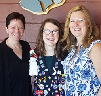 Rotary exchange student Madeline Gosset (centre) with Rotarians Julia McKenzie (left) and Suzi Jarvis (supplied photo)