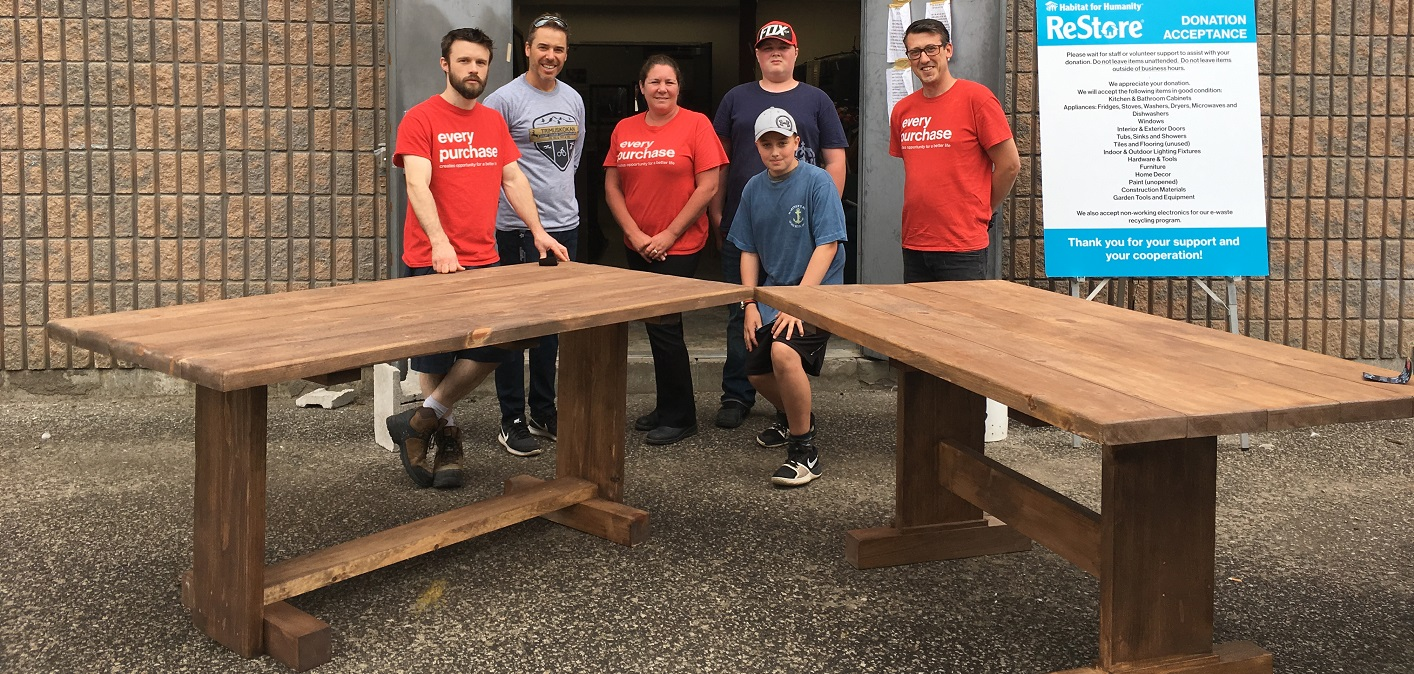 Harvest Tables Built By Riverside Students Are Delivered To Habitat For  Humanity By Teacher Greg Pitts