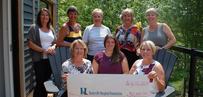 The Golf Fore the Girls committee presents a cheque to the Huntsville Hospital Foundation. The event has raised more than $300,000 to date.