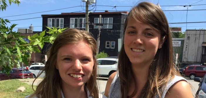 Lizzie Robinson (left) and Morgan Richter are the new Downtown Huntsville BIA coordinators (supplied photo)