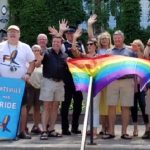 A flag-raising on the Town Hall steps kicked off the 2018 Muskoka Pride Festival in Huntsville