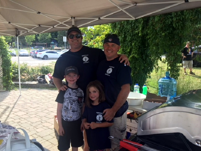 The Huntsville Lake of Bays Fire Department hosted a BBQ at the Muskoka Pride Festival kick-off