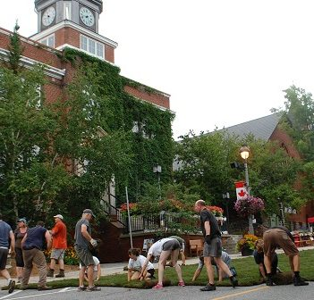 Town Hall gets its very own park, albeit temporarily, for the Green Street Challenge, part of the annual Summer Sidewalk Sale