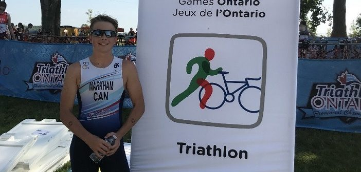 Ian Markham at the 2018 Ontario Summer Games triathlon (Photo: Janet Markham)