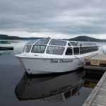 The Tom Thomson tour boat arrived at the Port Sydney dock via truck